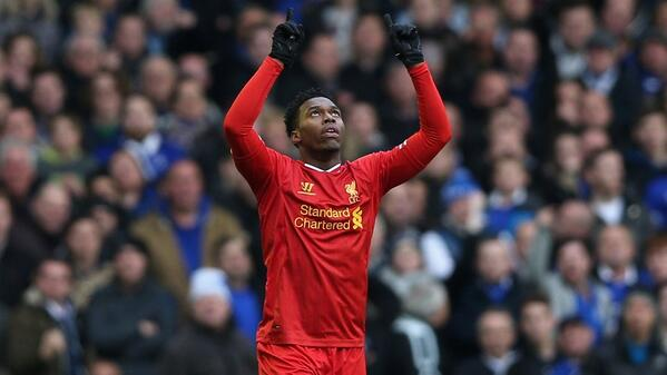 Daniel Sturridge Celebrate His Equaliser After Coming On as a Second-Half Substitute Against Neighbours Everton.