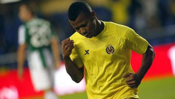 IK Uche Celebrates Scoring for Villareal.
