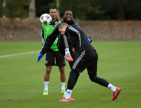 Kenneth Omeruo in Chelsea raining Before Moving to the Championship On Loan With Middlesborough.