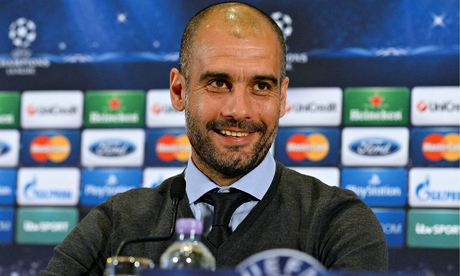 Pep Guardiola Answers Media Questions Ahead of the Champions League Quarter-Final First Leg Clash With Manchester United.