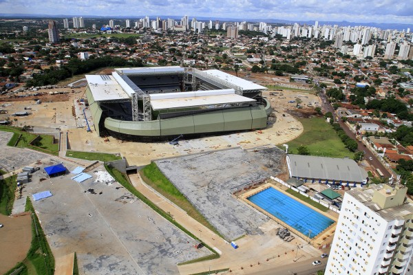 Arena Pantanal Stadium is Still Under Construction With Just Weeks Left to the Kick-Off of 2014 World Cup.