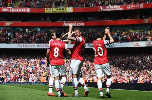 Arsenal Celebrates Qualification for Next Season's Champions League.