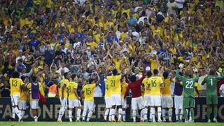 Brazil's Selecao Celebrates Their 2013 Confederation Cup Victory in Front of Home Crowd.