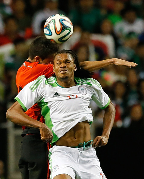 Michael Uchebo is One of the Players in the Super Eagles Camp Looking to Earn a Place at the Brazil World Cup.