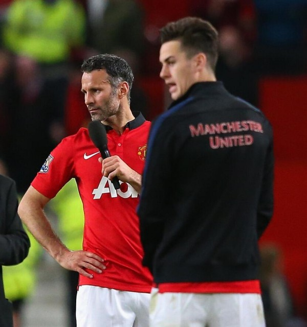 (Possibly) Giggs' Curtain Call: The Welshman Addressed the Old Trafford Crowd Following United's 3-1 Win Over Hull.