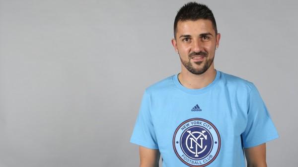 David Villa Joins New York City FC. Image: Twitter @NYCFC