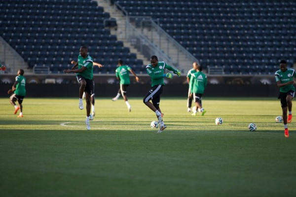 Echiejile, Omeruo and Musa Were Absent from the Super Eagles Training on Saturday. Image: Twitter @NgSuperEagles