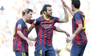 Fabregas and Team Mates