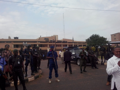 EDO HOUSE OF ASSEMBLY COMPLEX GUARDED BY SECURITY OPERATIVES