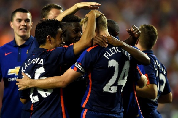 Darren Fletcher and Team-Mates Celebrates Penalty Shootout Win Over Inter Milan. Image: Man Utd.