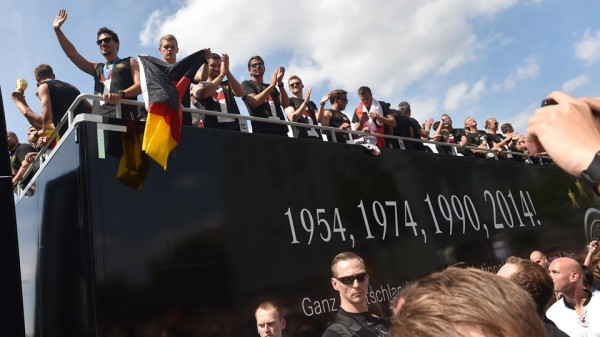 Germany National Team Arrives In Berlin After Winning Fourth World Cup Title in Brazil. Image: AFP.