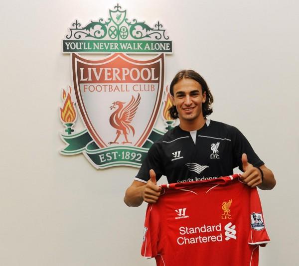 Lazar Markovic Joins Liverpool. Image: LFC.