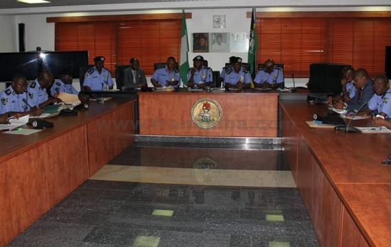 THE IG AND TOP POLICE ECHELON AT A MEETING RECENTLY