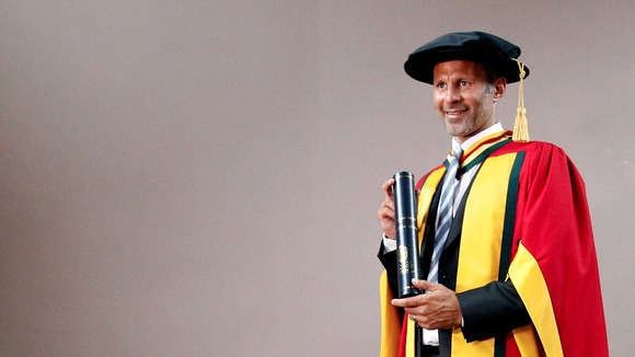 Ryan Giggs Given Honorary Doctorate By University of Bolton.
