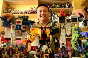 Chinese Man Spends $30,000 over 12 Years on Impressive Transformers Collection
