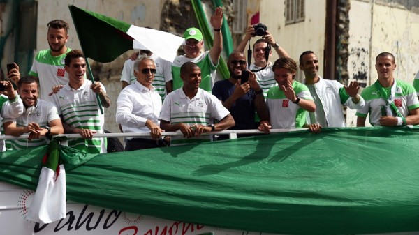 Vahid Halilhodzic and the Algeria National Team Arrive Algiers to a Rousing Welcome. Image: Fifa via Getty Image.