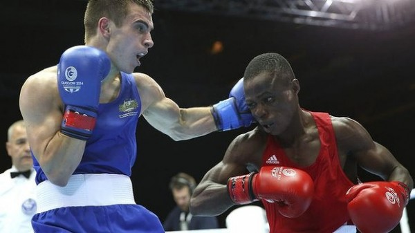 Team Nigeria's Wasiu Taiwo Lost to Australia's Andrew Maloney By Unanimous Decision. Image: AFP.