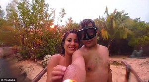 Lightning Strikes Couple's Vacation Selfie; No Flash Needed