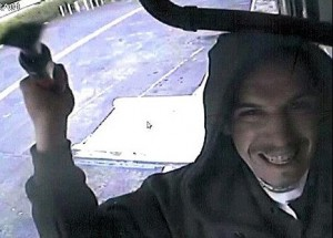 Happy Thief Uses Security Cam To Take A  Selfie