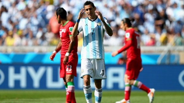 Angel Di Maria reacts After Missing a Chance During Argentina-Belgium World Cup Clash. Image: Getty Image.