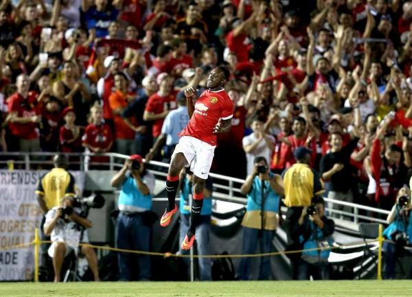 Danny Welbeck Celebrates Scoring Against LA Galaxy.