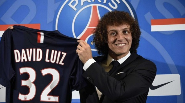 David Luiz to Wear Jersey Number 32 at PSG. Getty Image.