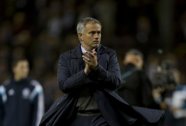 Jose Mourinho Applauds Fans After Burnley Win.