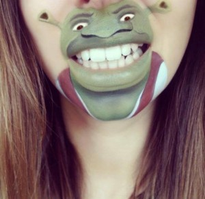 Makeup Artist Transforms Her Mouth and Chin into Popular Cartoon Characters