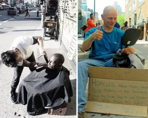 New York Stylist Does His Part by Giving Free Haircuts and Shaves to the Homeless