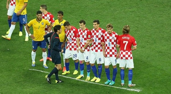The First-Ever Instance Vanishing Spray Was Used at a Fifa Tournament Involving the Opening 2014 World Cup Fixture Between Brazil and Croatia.