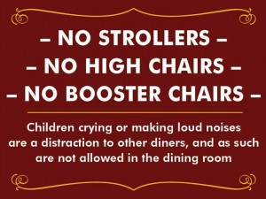 California Restaurant Places Ban on Crying Children