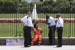 Toddler Squeezes Through White House Fence