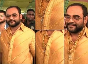 What Is It with Wealthy Indian Men and Solid Gold Shirts?