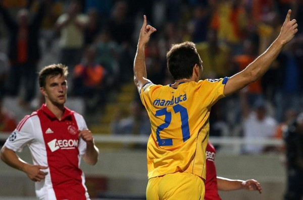 Gustavo Manducar in Delight After Leveling for Apoel.