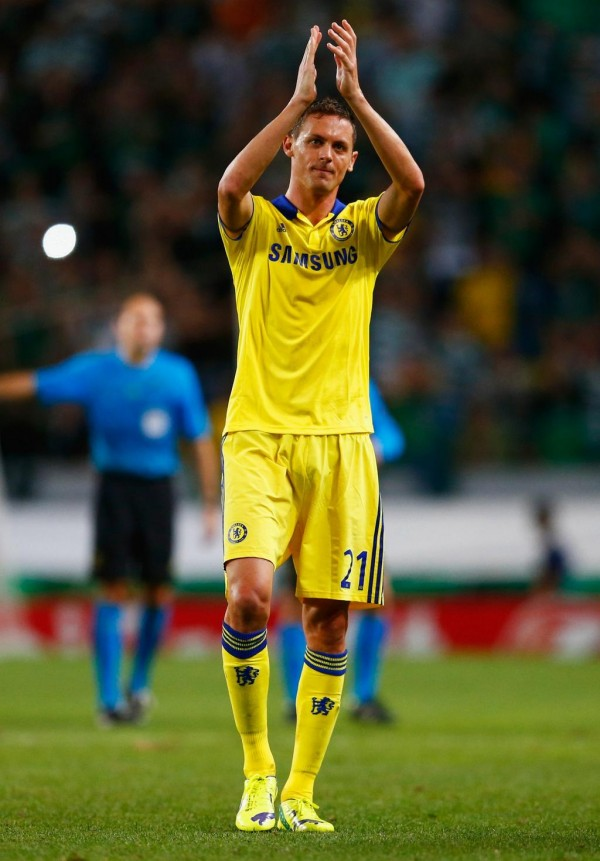 Nemanja Matic Celebrates After Chelsea Win in Lisbon. Image: Getty.