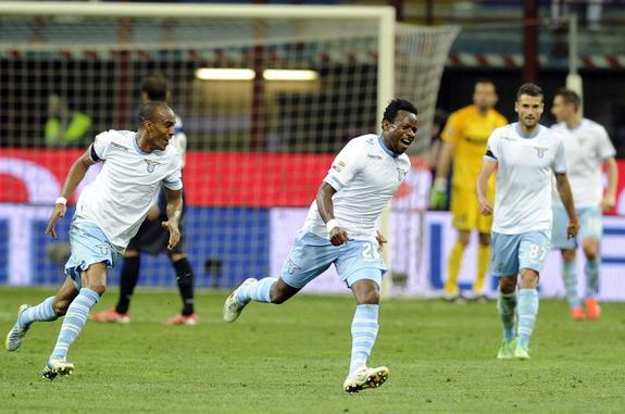 Ogenyi Onazi Celebrates Scoring Against Inter Milan Last Season.