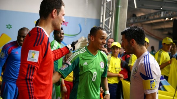 Team-Mates: Odemwingie, Begovic and Spahic Before a World Cup group Game in Brazil. Image: Getty.