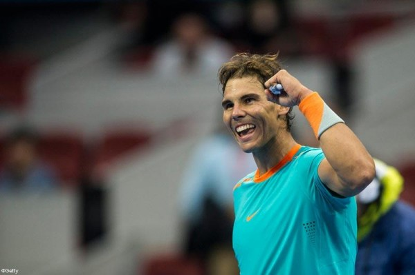 Rafael Nadal Pumps Fist After Defeating Richard Gascuet in 2014 China Open. Image: Getty.