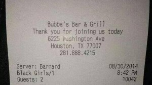 "Restaurant Categorized Two Women As ""Black Girls"" On Their Receipt"