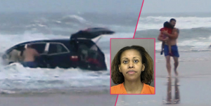 Woman Drives Own 3 Kids Into Ocean, Blames It On Her Low Blood Sugar