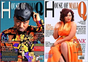 Ice Prince and Lisa Omorodion Dazzle On Cover Of House Of MaliQ September Issue