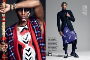 Pharrell Williams Poses In Wrapper In British GQ's October 2014 Issue