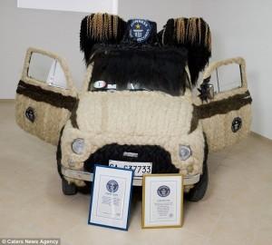 PHOTO: World's Hairiest Car! Woman Covers Her Entire Car In Human Hair