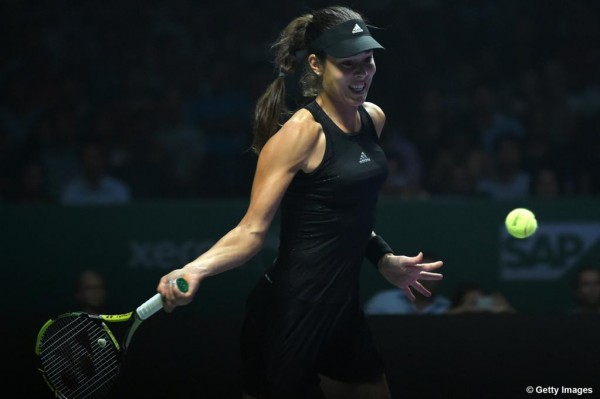 Ana Ivanovic Records Her First Win in Singapore Against Eugenie Bouchard.