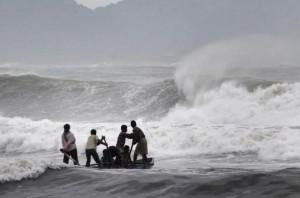 Three Killed As Cyclone Hudhud Makes Landfall In India