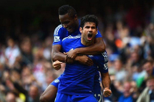 Injured Diego Costa and John Obi Mikel Ruled of Champions League Tie With Maribor. Image: Getty.