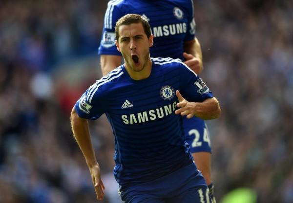 Eden Hazard Celebrates His Second Goal of the Seaon. Image: Chelsea via Getty.