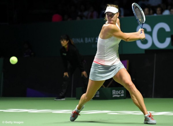 Maria Sharapova Won Agnieszka Radwanska But Lost Out of the WTA Finals By Virtue of a Set Blip. Image: Getty.