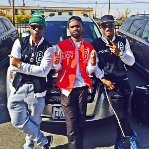 Famous African comedians flaunting Ruggedman's 8 Figures clothing line in Chicago – USA