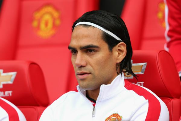 Radamel Falcao Sat Out United's 1-1 Draw With Chelsea on Sunday. Image: Getty.